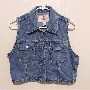 Vintage '96 Levi's Cropped Denim Vest